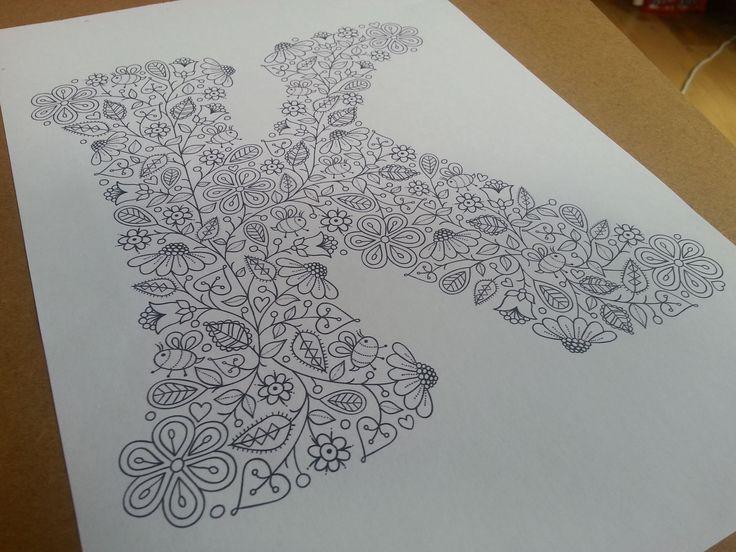 Letter K illustration by Suzy Taylor