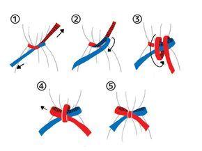 ポイントは、3つめの工程で赤のリボンをクルクルと巻きつけること。慣れれば簡単にできるようになりますよ。