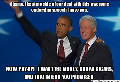 The Real Deal, Obama Bill Clinton Meme