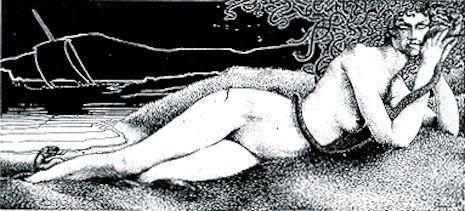The erotic, macabre art of Virgil Finlay, favorite illustrator of H.P. Lovecraft | Dangerous Minds
