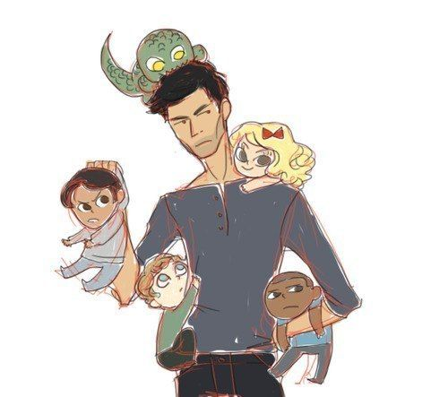 Teen Wolf - Derek and his pack<-------the best part is tiny little kanima Jackson!