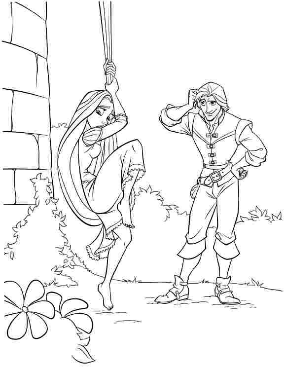 Free Printable Colouring Pages Disney Princess Tangled Rapunzel For Preschool #56029.