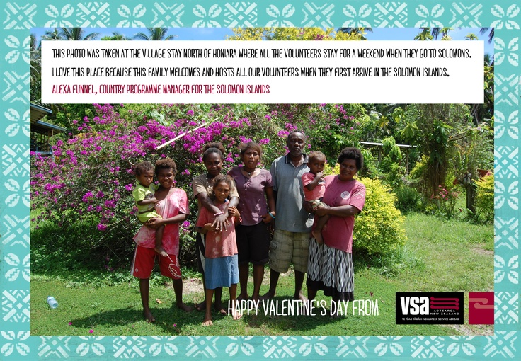 """CPM Alexa Funnell sent us this photos from the the village stay where all the volunteers stay for a weekend when they arrive in the Solomons. """"Family is at the centre of all Solomon Island politics, society and economy, and this beautiful family provides a great introduction that is always a lasting memory for volunteers."""""""