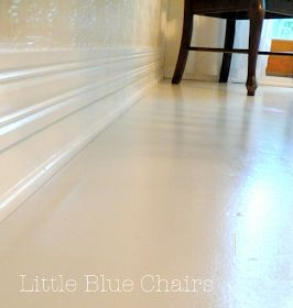 Little Blue Chairs: Painted Sub-floor: The Process