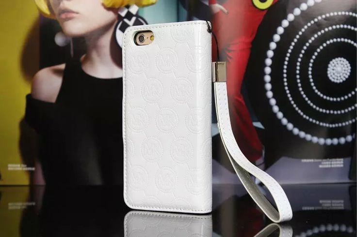 Michael Kors iPhone 7 Case Wallet MK Bling Vernis Cover White-01