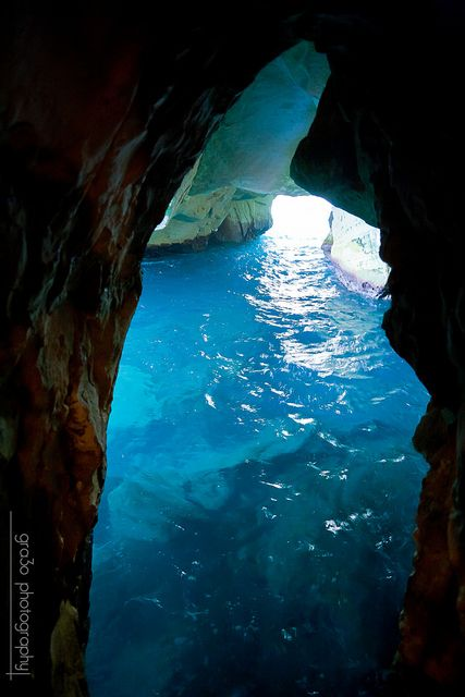 Rosh HaNikra is a geologic formation in Israel, located on the coast of the Mediterranean Sea, in the Western Galilee. It is a white chalk cliff face which opens up into spectacular grottos.