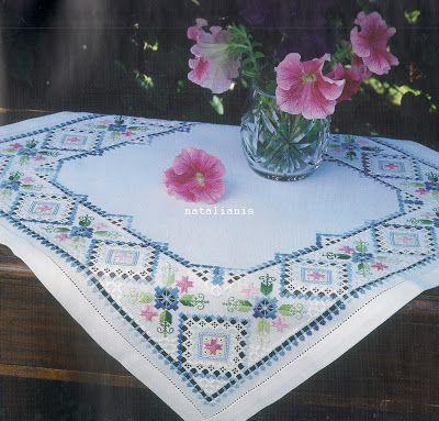 Всем, кто вяжет, дарю старые идеи для новых работ LOVE THIS small tablecloth ~!~