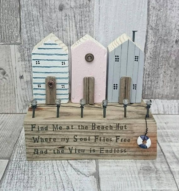 Check out this item in my Etsy shop https://www.etsy.com/uk/listing/569471050/beach-hut-driftwood-art-little-wooden