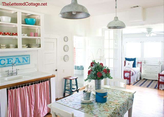 Love the sign!: Beaches, Idea, Beach House, Beach Cottages, Style, Cabinet, Mermaid Cottages, Beach Cottage Kitchens