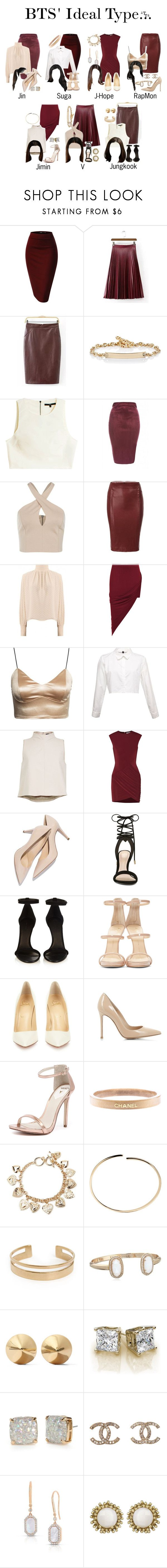 """BTS' ideal type attending an awards show with them"" by triple-threat36 ❤ liked on Polyvore featuring Hoorsenbuhs, TIBI, AX Paris, WearAll, Elizabeth and James, ALDO, Isabel Marant, Giuseppe Zanotti, Christian Louboutin and Gianvito Rossi"