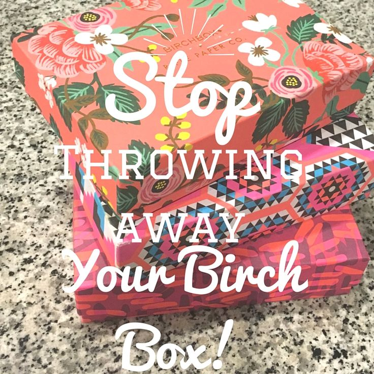 Don't know what to do with your old but adorable #birchbox ? Look no further. || a tipsy gypsy life