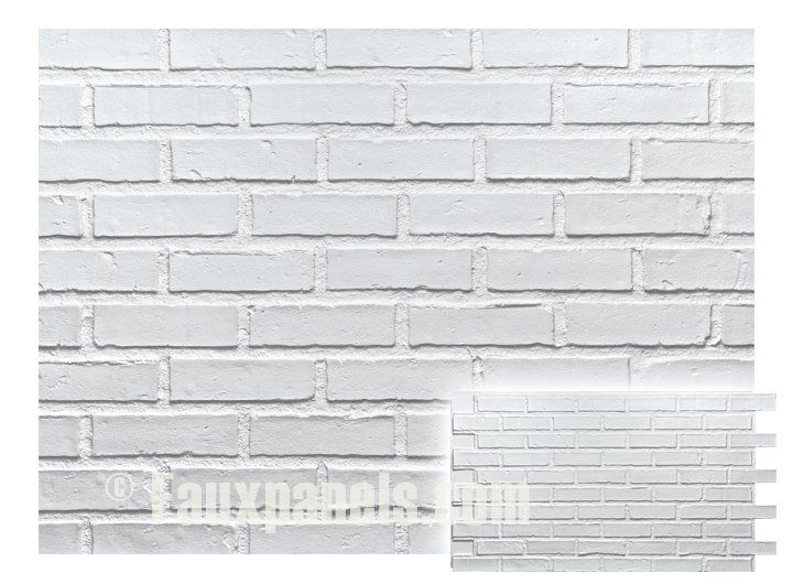 Faux brick veneer panels white brick paneling the o for What is brick veneer siding