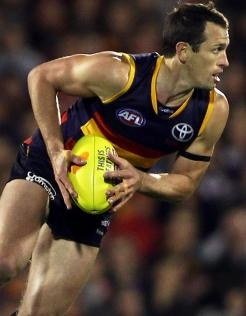 ADELAIDE defender Michael Doughty's performance on Fremantle livewire Hayden Ballantyne is likely to earn him the role of trying to quell Hawthorn's Cyril Rioli in Saturday's preliminary final... (Paul Daffey for afl.com.au).