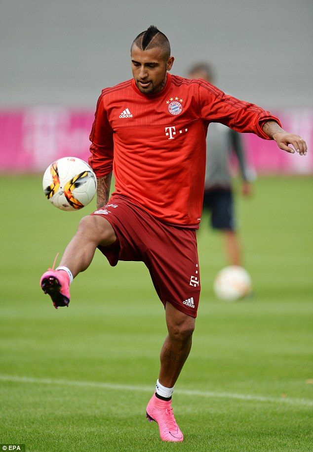 Bayern Munich new boy Arturo Vidal takes part in first training session as Chile midfielder targets Champions League glory