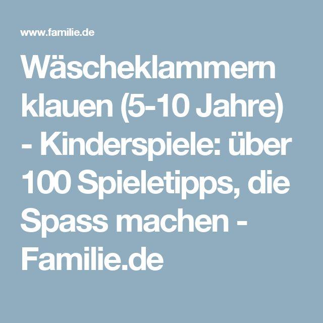 Wäscheklammern klauen (5-10 Jahre) - Kinderspiele: über 100 Spieletipps, die Spass machen - Familie.de