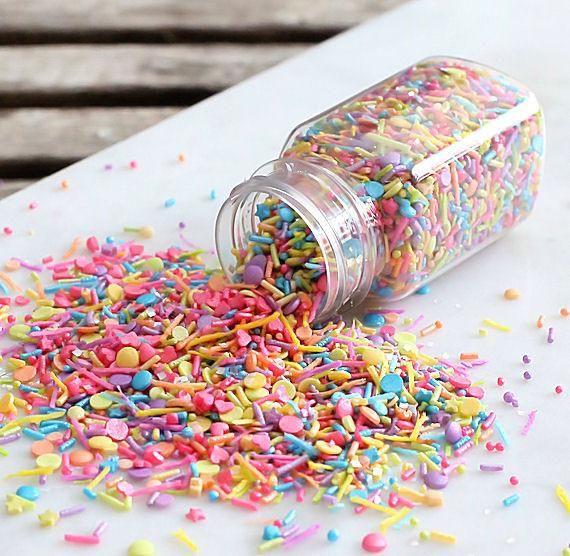 Sprinklefetti Sweet Rainbow Sprinkle Mix Can Add A Burst