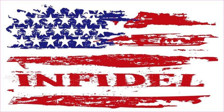 american flag car sticker