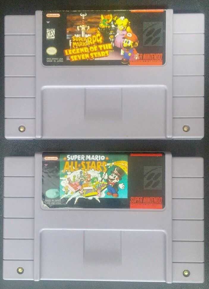 super mario all stars super mario rpg snes super nintendo game