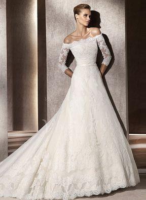 Brautkleid spitze und schleppe