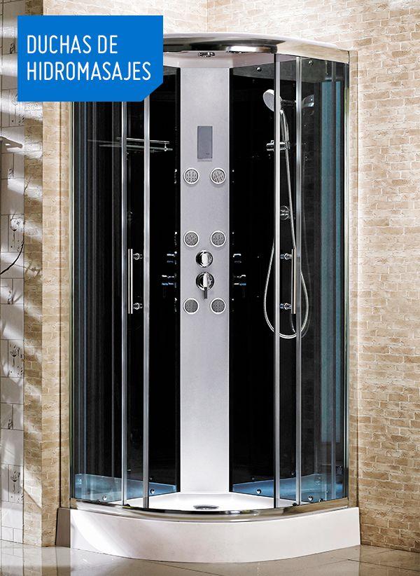 Tener una ducha de hidromasajes en casa es como llevar el SPA a tu hogar ¿te animas? ¡Elige la tuya! #SodimacDecora #BanoSodimac #Ducha #CabinasdeDucha #Hidromasaje