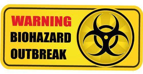Biohazard Outbreak Zombie Warning Sign Bumper Sticker Decal 12 x 8 cm topstick http://www.amazon.co.uk/dp/B00HT2F50W/ref=cm_sw_r_pi_dp_1n3Jtb1Q7V962QKS