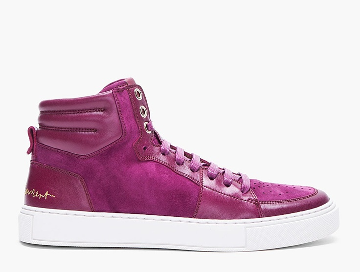 Yves Saint-Laurent – Purple Suede Malibu Sneakers / For Girls