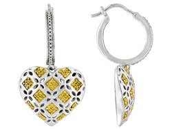 Yellow #diamond flower #earrings from Jewelry Television