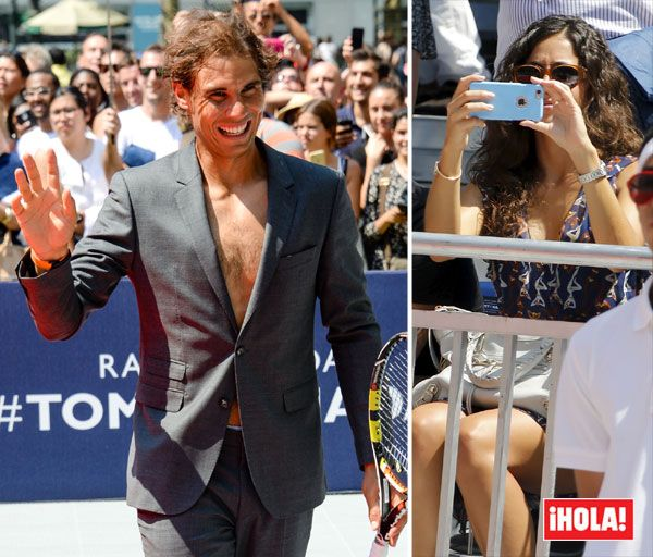 Rafa Nadal jugó su partido de tenis más peculiar ante la atenta mirada de su novia, María Francisca Perelló