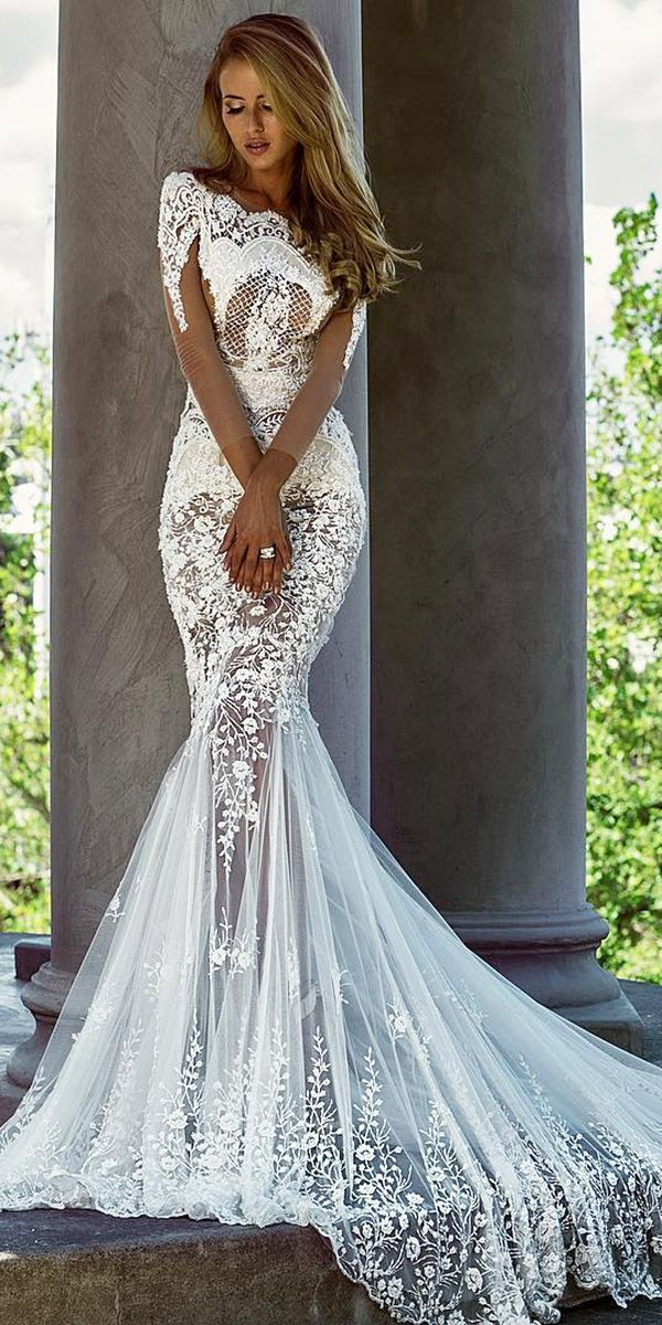 24 Trumpet Wedding Dresses That Are Fancy Romantic Wedding Stuff