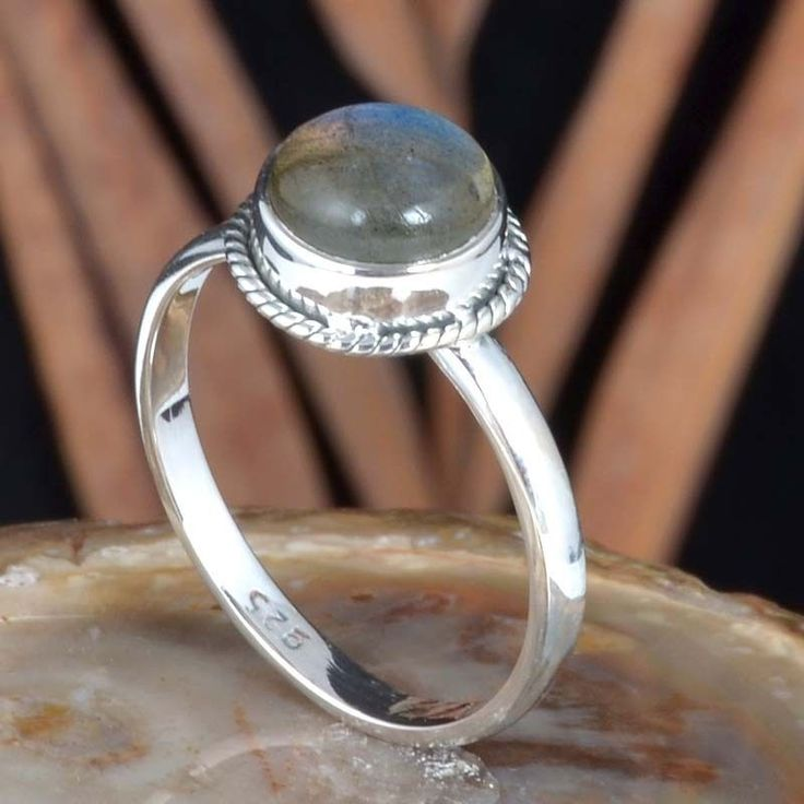 EXCLUSIVE 925 STERLING SILVER LABRADORITE FANCY RING 2.43g DJR11476 SZ-6 #Handmade #Ring