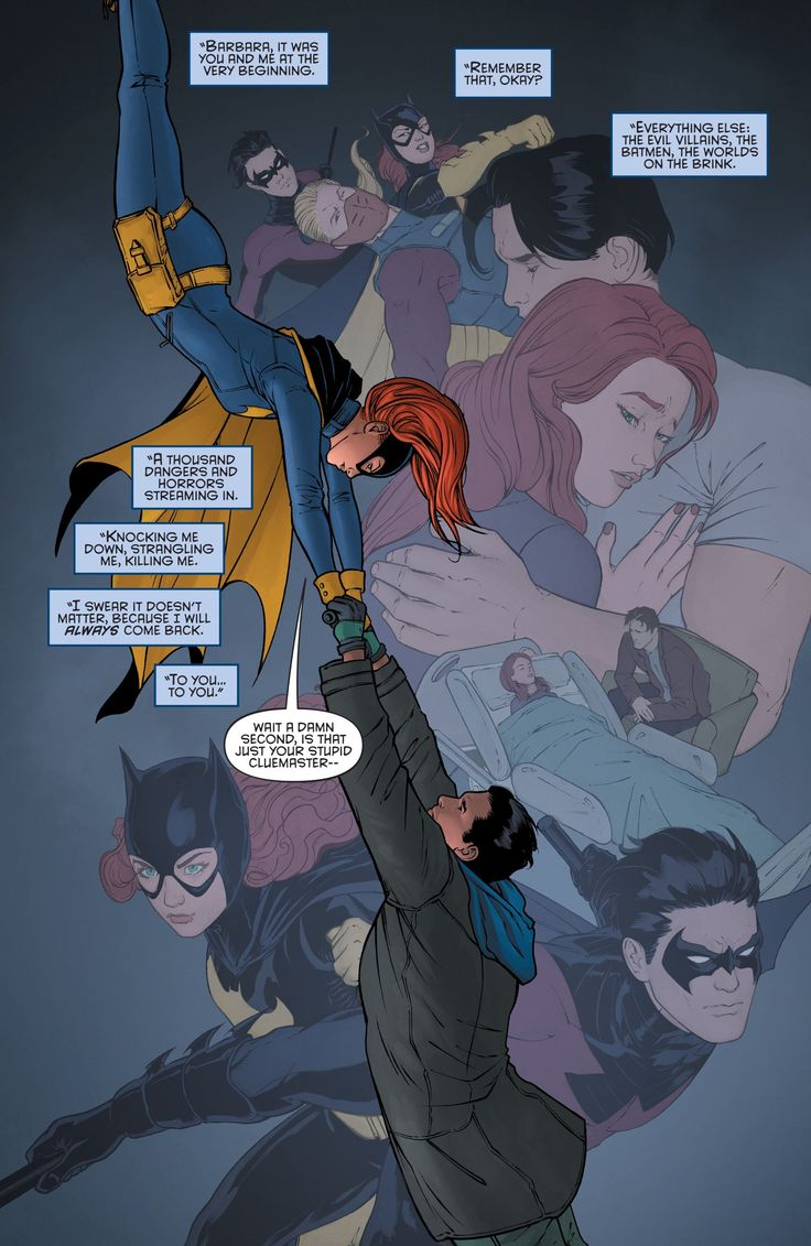 The best couple Dick Grayson and Babs in Greyson #12