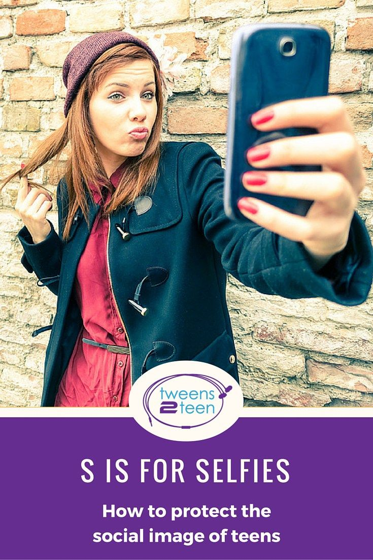 Things parents can do to protect the social image of teens in the age of selfies.