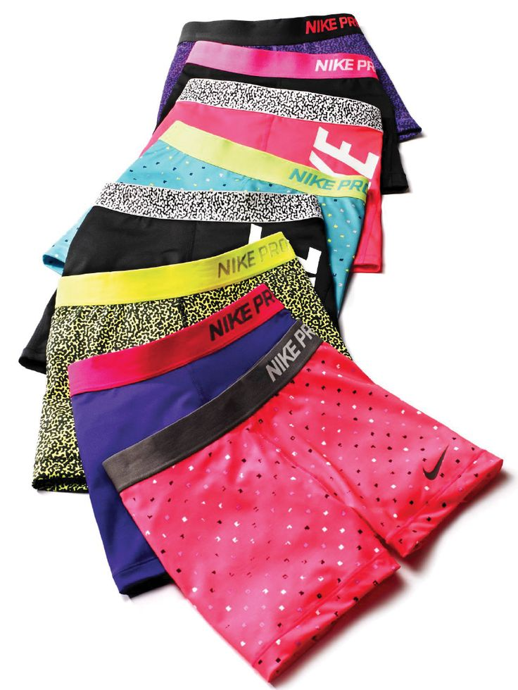 Nike shorts, a new color and print for every workout!