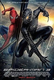 "Movie Review: ""Spider-Man 3"" (2007) -- ""Spider-Man 3"" is what happens when a fat kid goes to a party and has too much to eat. What results in the bathroom later on is a tangled web of a mess."