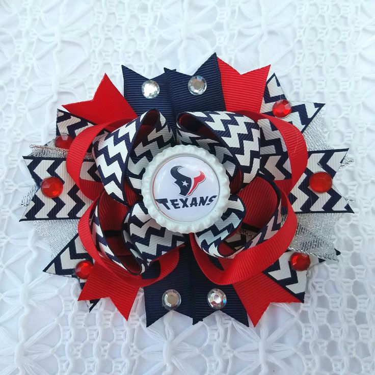 Houston Texans NFL Football Hair Bow by Tutus4Tails on Etsy