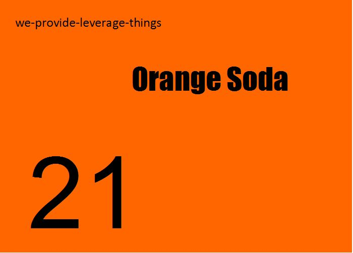 Most orange soda has WOOD PULP in it. Read the ingredients. Trader Joes mandarin orange has no wood pulp. And that's the truth.