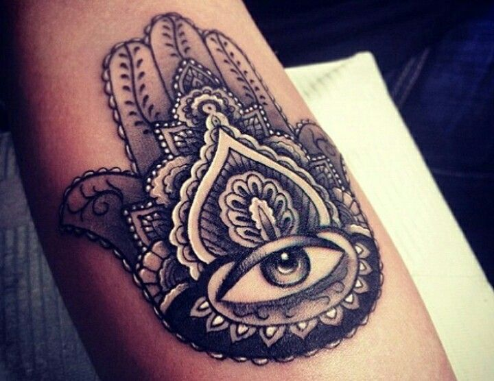 Hand With Evil Eye Tat...