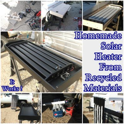 "Homemade Solar Heater From Recycled Materials Off Grid Project Homesteading  - The Homestead Survival .Com     ""Please Share This Pin"""