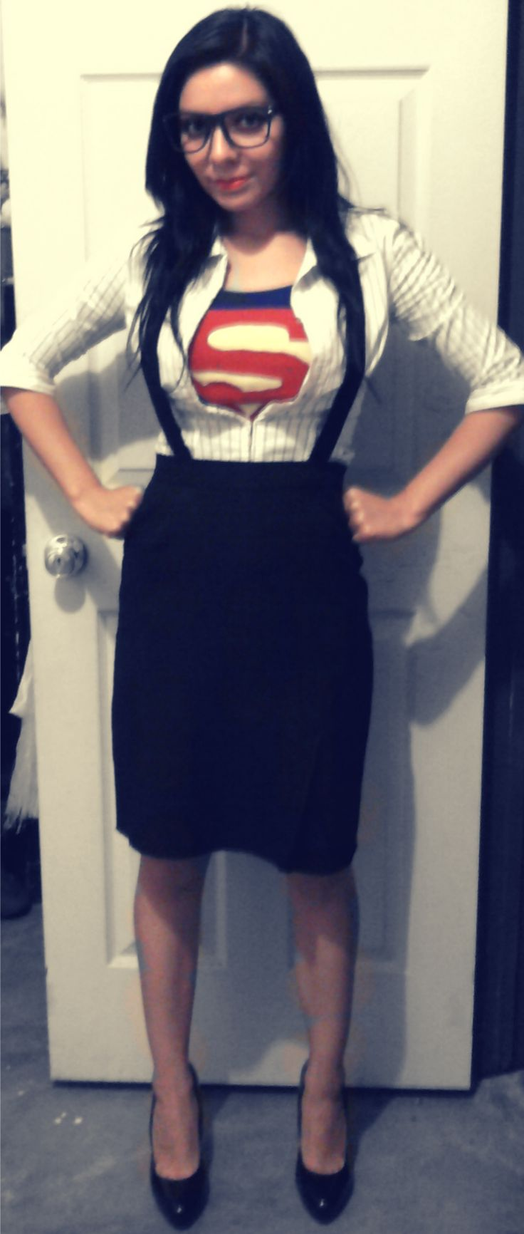 melyjuku clark kent superman easy costumesamazing costumeshalloween - Halloween Costume Ideas For Women Cheap And Easy