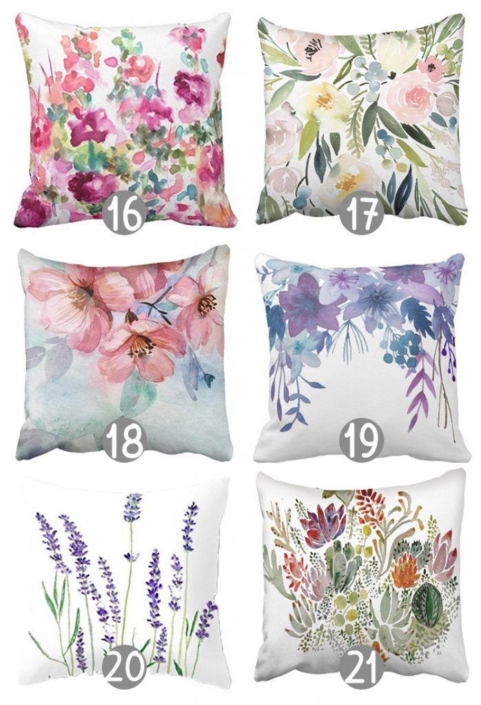 27 Gorgeous Floral Throw Pillow Covers Under 10 The Craft Patch Floral Throw Pillows Chic Throw Pillows Floral Throw Pillow Covers