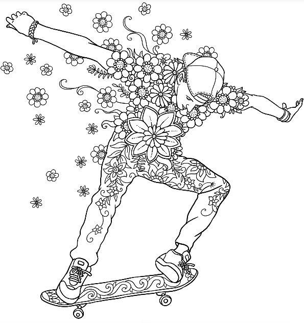 Let S Skate Colouring Page Colormattersapp Ausmalbilder Malvorlagen Ausmalen