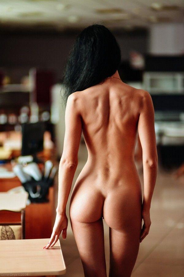 Nude porno on floor