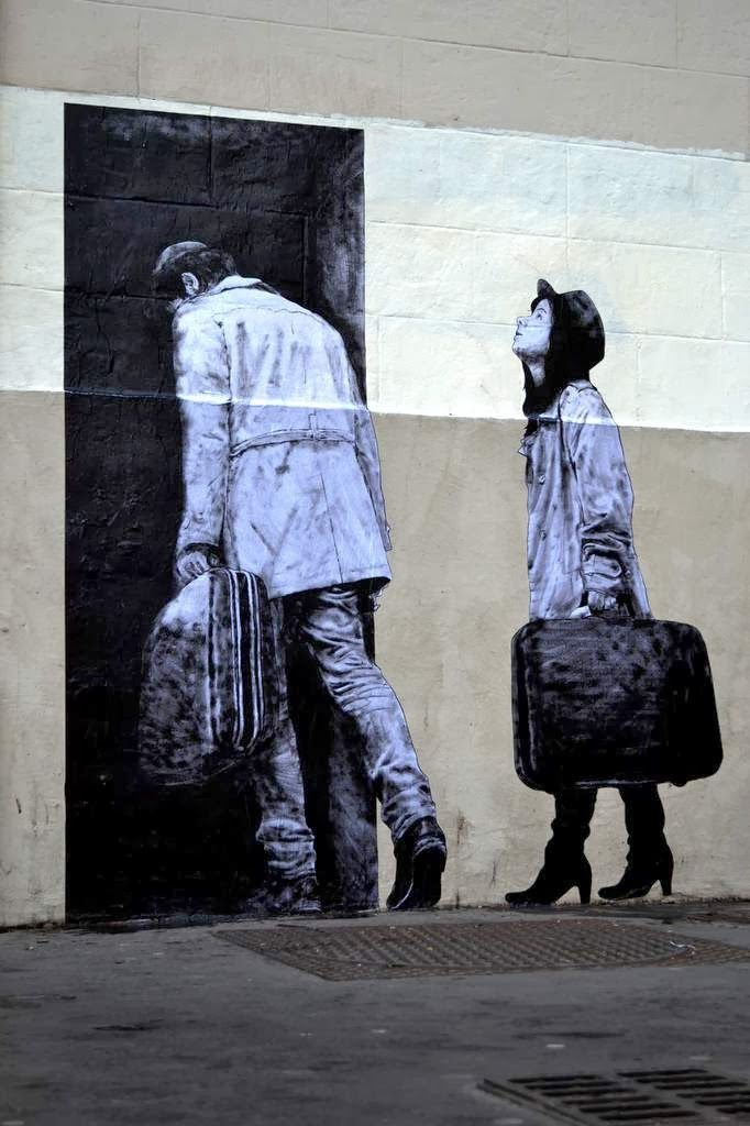 """""""The Departure"""" New Piece By Levalet on the streets of Paris, France. 4"""