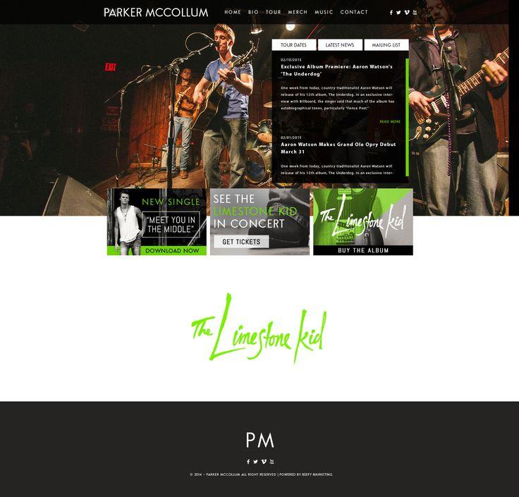Parker McCollum Website Design for Band