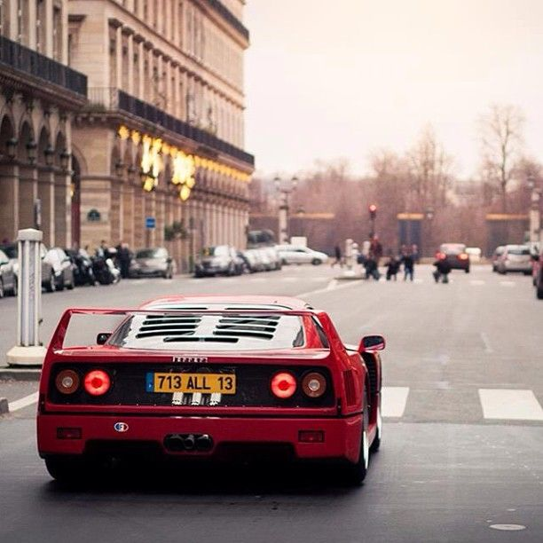 Old school Ferrari F40 - this was once the fastest car in the world and still considered one of the greatest sports cars of all time.