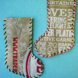 Trader Joe's Bags into Christmas stockings