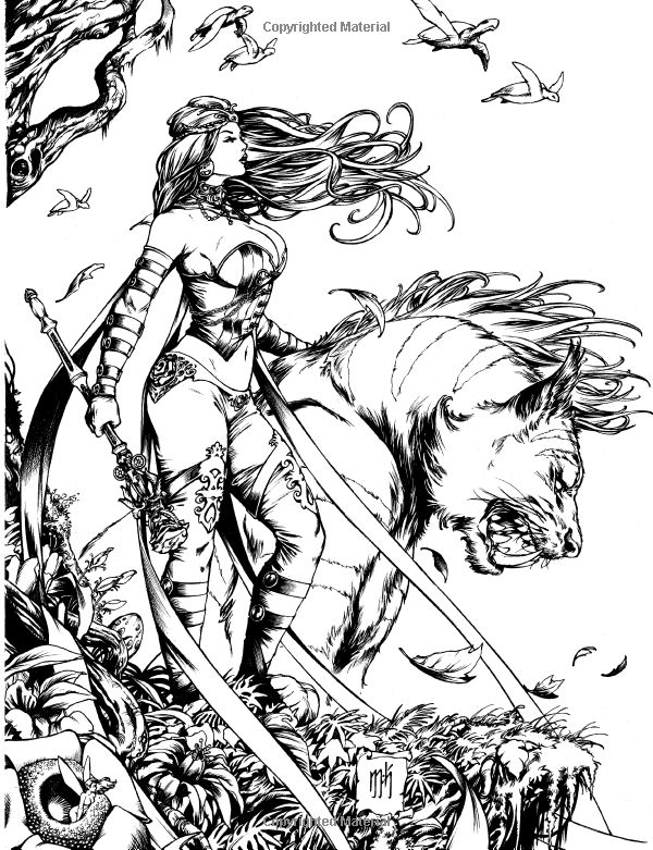 J Scott Campbell Coloring Pages