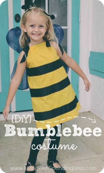 A very detailed & easy-to-follow tutorial for making a little girl's pillowcase-dress style bumblebee costume.  So cute, so easy, so inexpen...