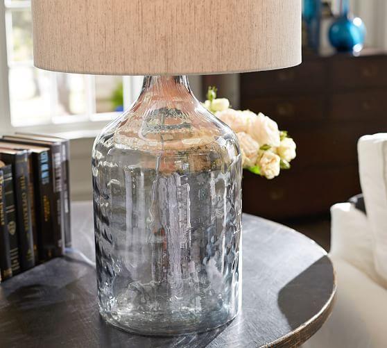 Alana Luster Glass Jug Table Lamp Base - Indigo   Pottery Barn