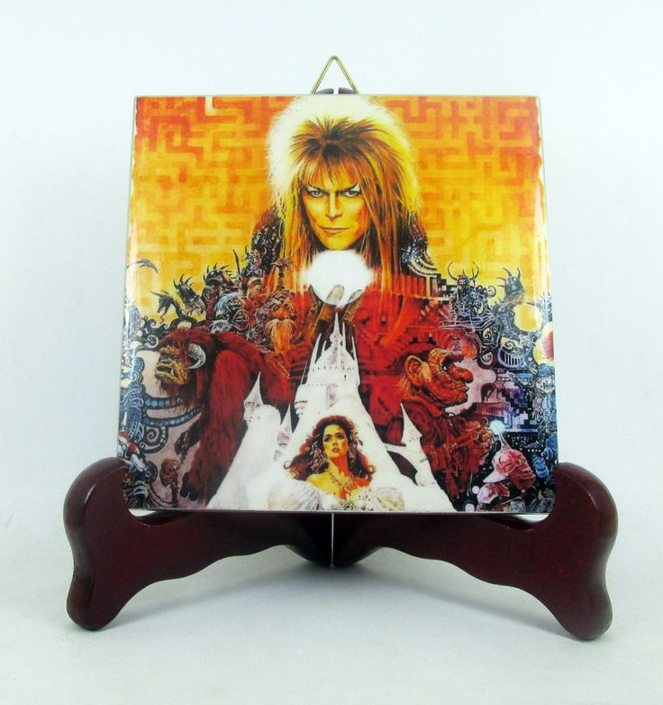 Labyrinth 30th Anniversary collectible ceramic tile David Bowie limited edition